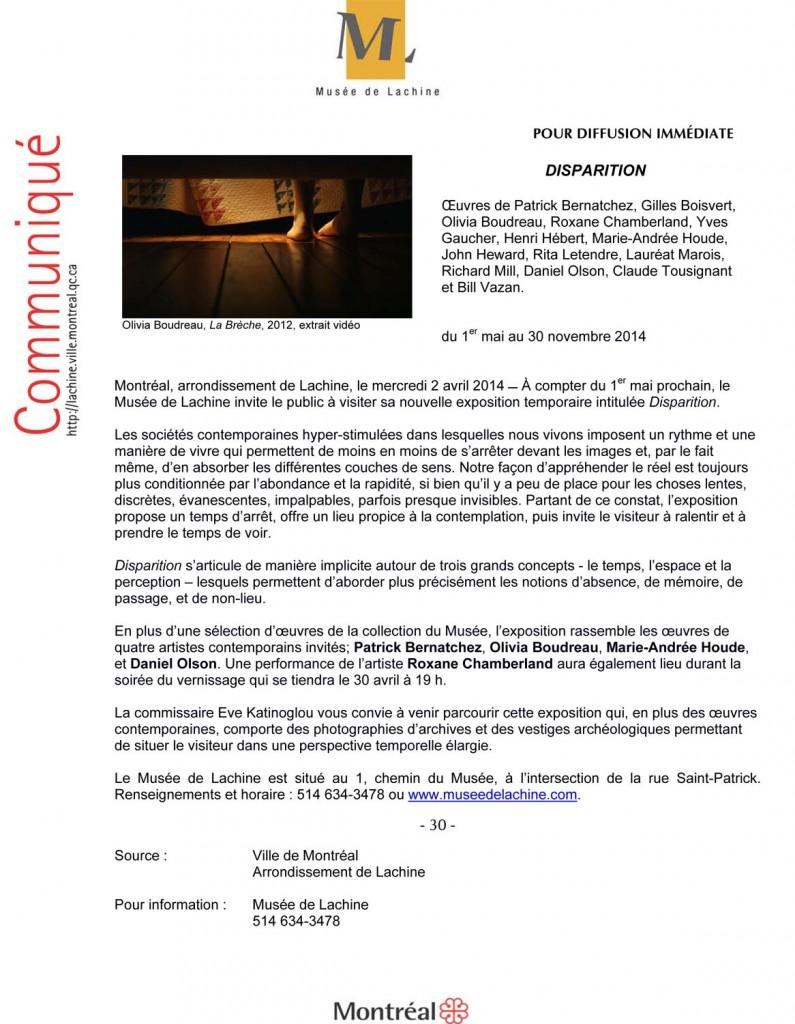Microsoft Word - CommuniquŽ_2014 03 07_FINAL.docx