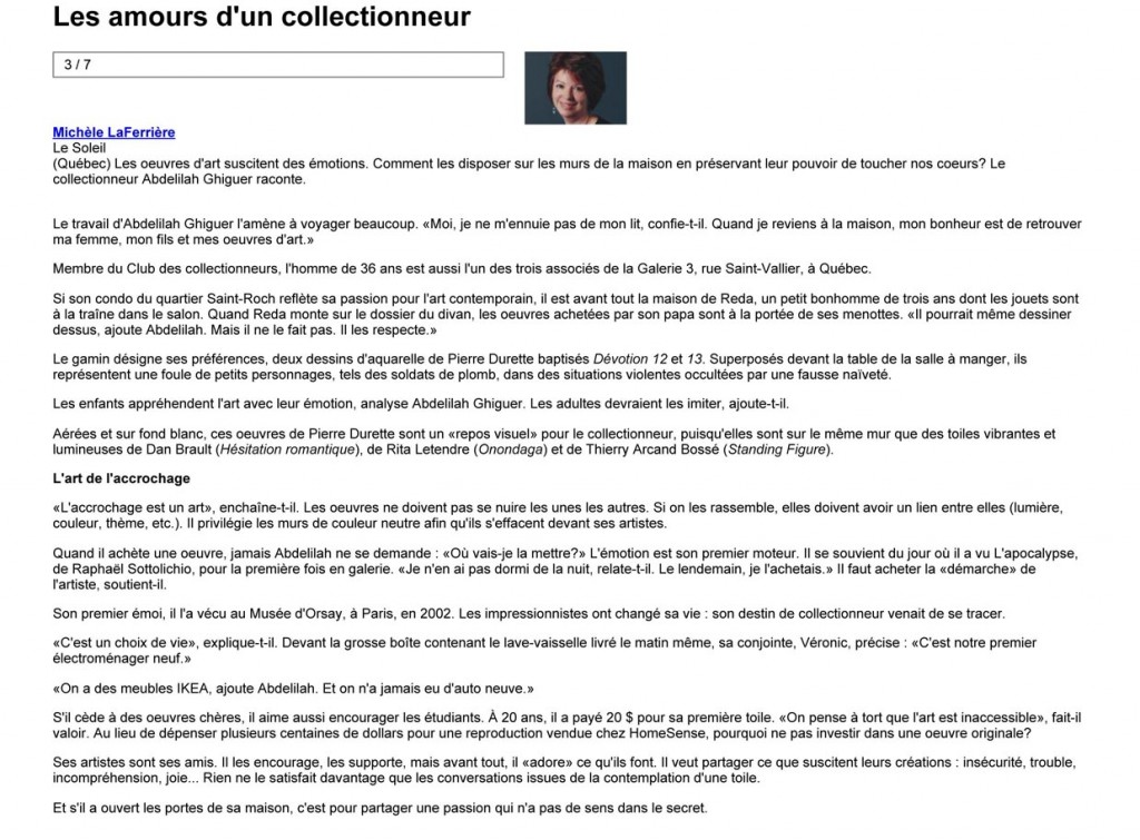 Les amours d'un collectionneur | Michle LaFerrire | Habitation