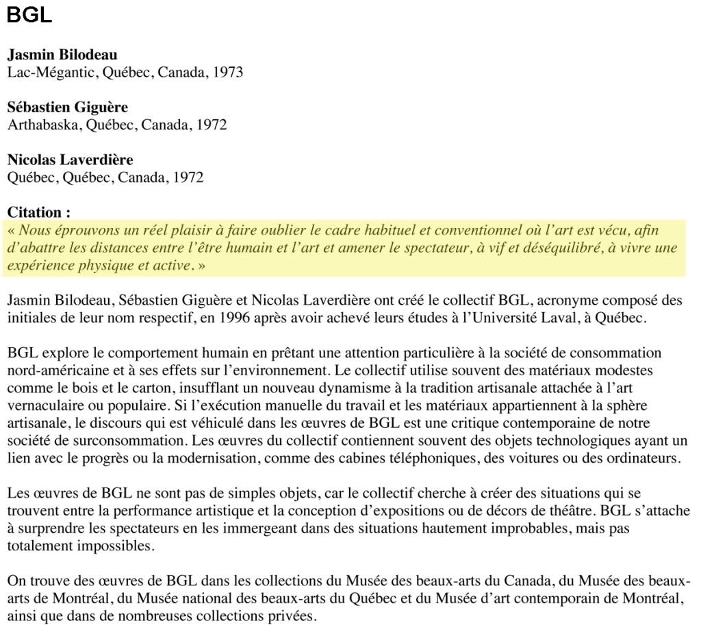 BGL - MusŽe des beaux-arts du Canada | MusŽe des beaux-arts du C