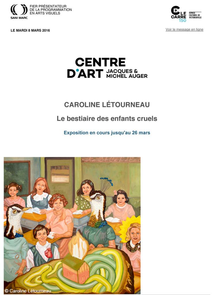 Exposition Caroline LŽtourneau