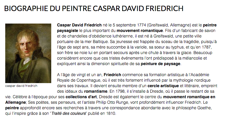 caspar david friedrich biographie